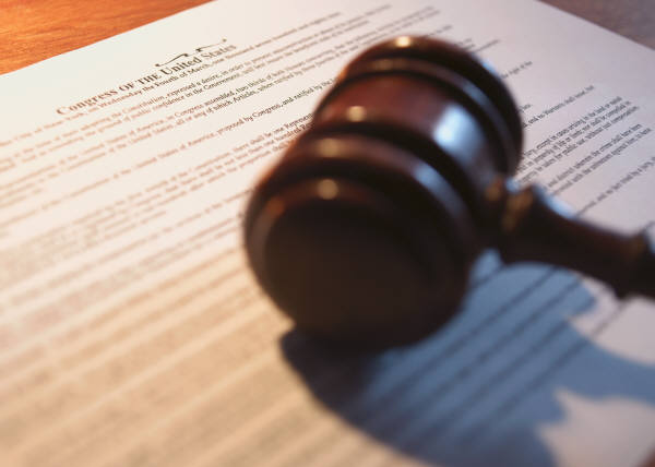 Image of a legal document and gavel